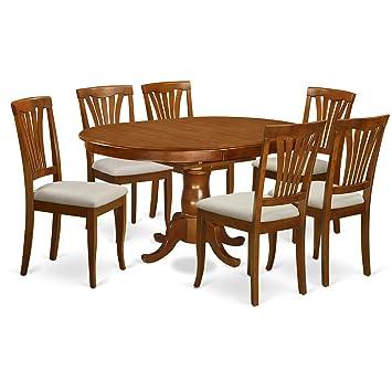 Amazon.com: East West muebles poav7-sbr-c 7 piezas Cocina ...