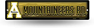 NCAA Rico Industries 16-Inch Plastic Street Sign Décor, Appalachian State Mountaineers