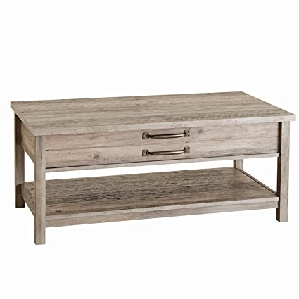 Unique Style And Functionality With Modern Farmhouse Lift Top Coffee Table,  Rustic Gray Finish
