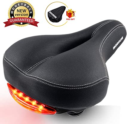 Comfort Extra Wide MTB Bike Bicycle Cycling Dual-pad Saddle Cushion Seat Pad