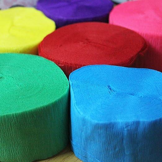 TOYANDONA Seis rollos de papel fluorescente,fiestas en color ...