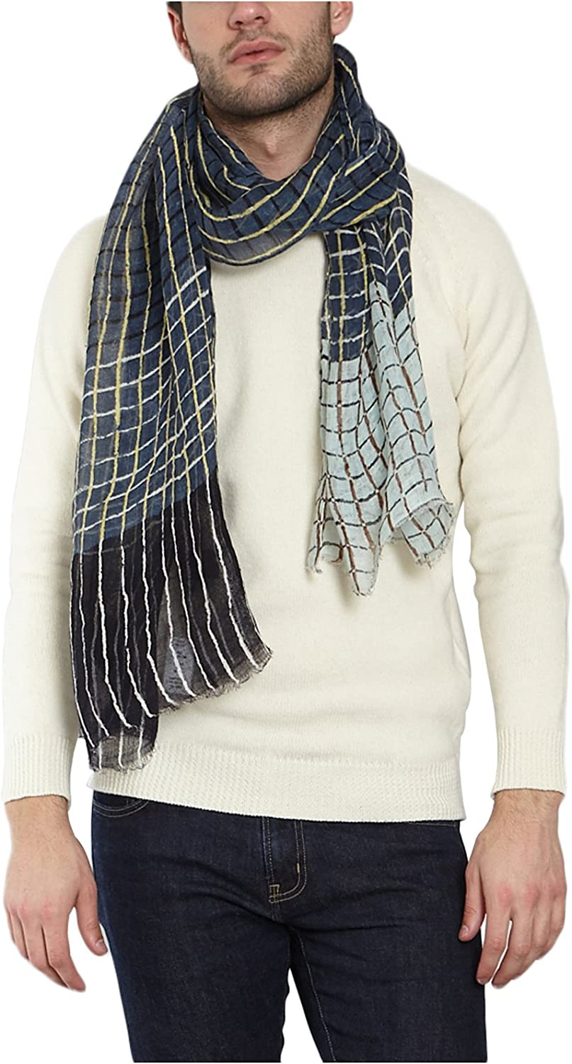 Epice Mens Chequered Scarf 39439