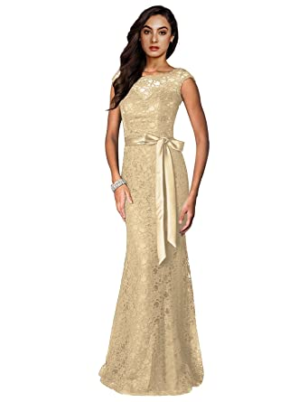 Irenephil Women\'s Elegant Floral Lace Sleeveless Halter Bridesmaid ...