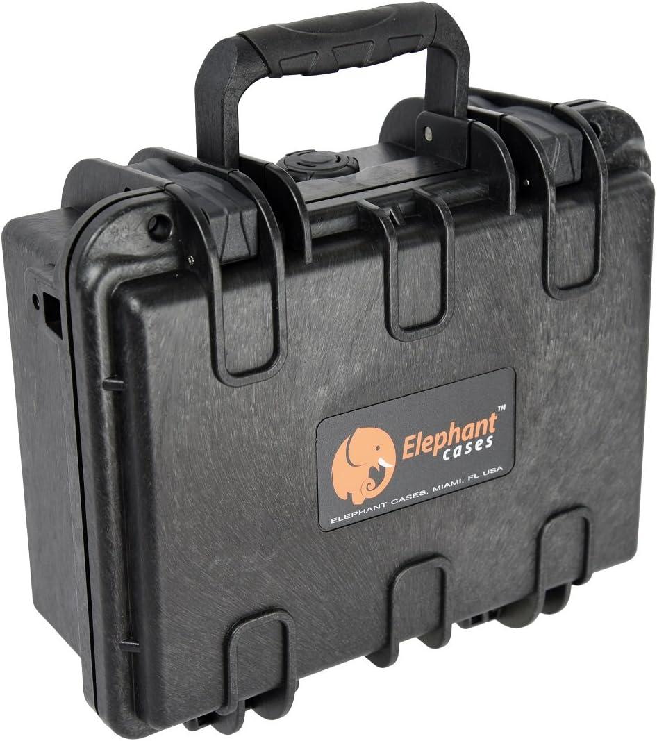"""Elephant E120 Handgun Pistol schwer Case für Small zu Medium Pistole und Magazine Great für die Shooting Range, Safe Storage oder Travel Fits Glock, Sig Sauer, Smith & Wesson M&P Under und mehr Under 8"""""""