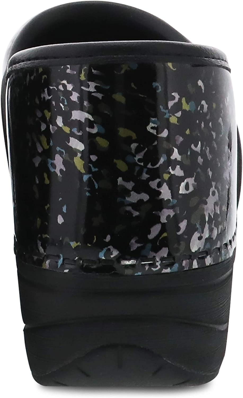 Dansko Frauen Floral Tooled Geschlossener Zeh Leder Clogs Speckles