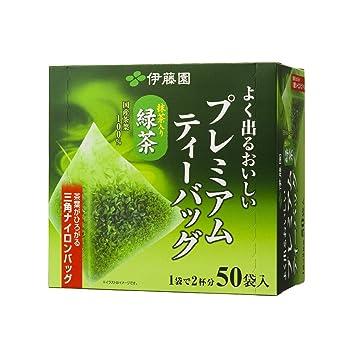 Juego de 50 bolsas de té japonés, color verde mate: Amazon ...