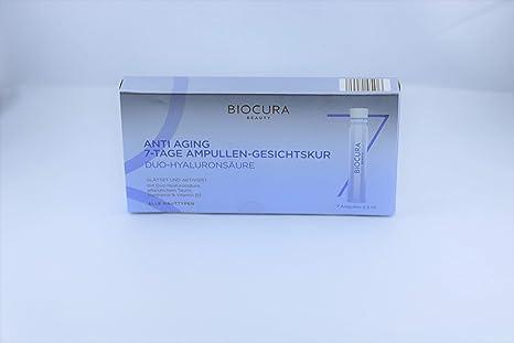 biocura Beauty anti-edad ampollas de Semana Kur con ácido hialurónico, mimox y Vitamina