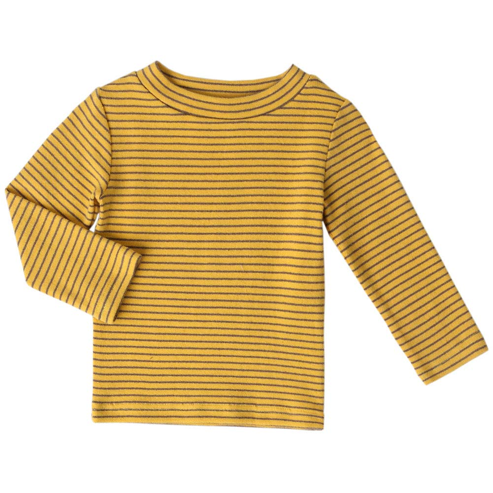 Baby Toddlers Long Sleeve Tee Little Kids Cotton Striped T-Shirt Crew Neck Tops