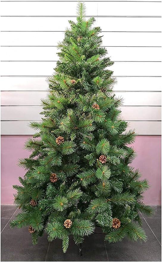 Árbol de Navidad Artificial de Pino Maxi-Relleno Arboles Desmontable C/Soporte Metálico 150-240cm (Verde Desmontable, 150cm 418Tips): Amazon.es: Hogar