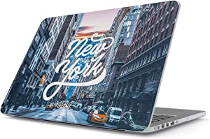 Glitbit Hard Case Cover Compatible with MacBook Air 13 inch Case Release 2018-2019 Model: A1932 / A2179 with Retina Display and Touch ID New York City Big USA Times Square America Travel Wanderlust