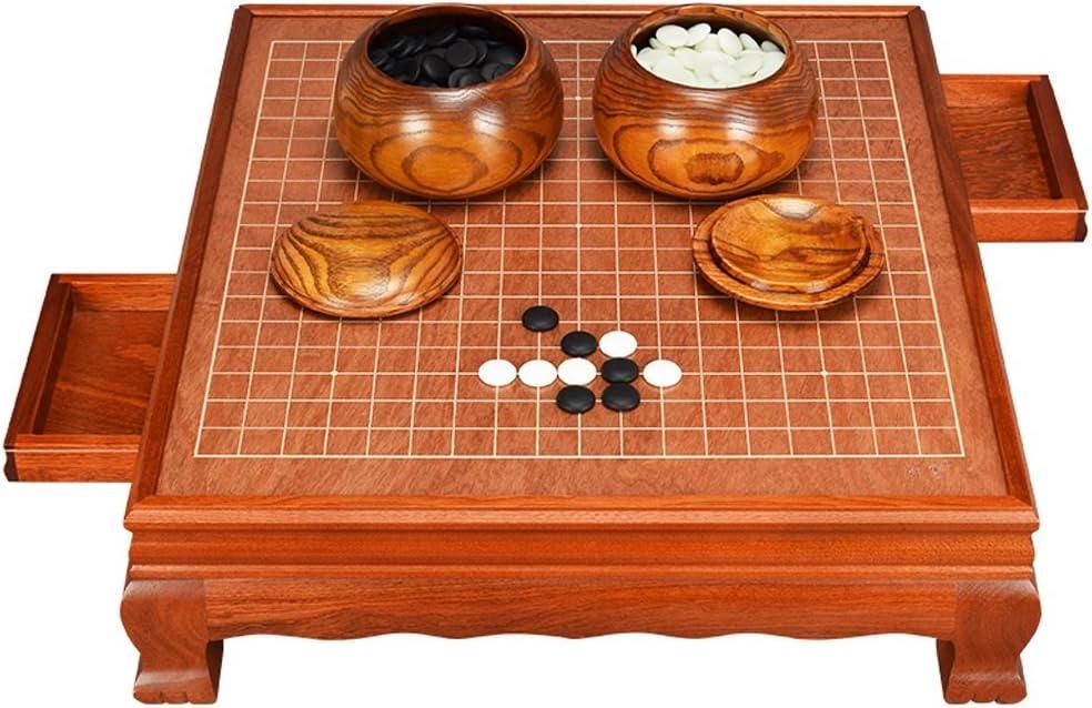QXX Adult Go Set, Tablero de ajedrez de Madera Maciza de Alto Grado Yunzi Go Pieces Tablero de ajedrez de Madera Frame Built-in Drawer Go: Amazon.es: Hogar
