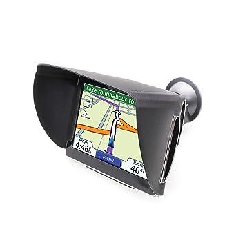 TFY Visor con parasol y antirreflejo para Navegador GPS Garmin Nuvi y otros GPS (7