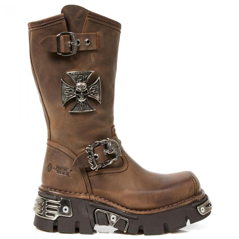 New Rock Boots M.1601 C20 Urban Biker Herren Stiefel Braun
