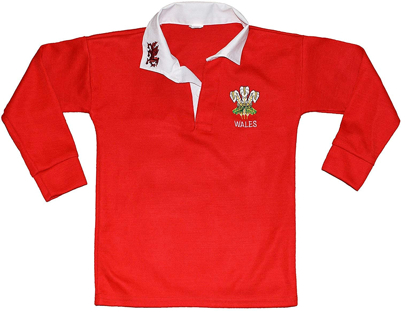 Sians Fashions Wales Welsh Cymru Rugby Shirts 9-10 Years Red