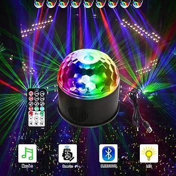 ANKENGS LED Discokugel, Kinder Disco Licht Partyleuchte Disco Lichteffekt 9  Farbe mit Fernbedienung & USB für Kinder Halloween Weihnachten Geburtstag  ...
