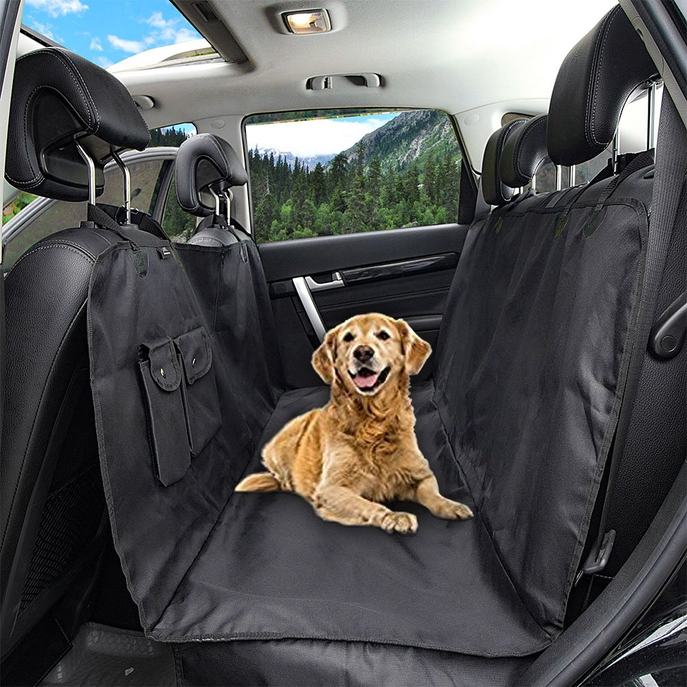 Honest Outfitters Dog Car Seat Cover Pet cover for Cars Trucks and Suv's - Wa