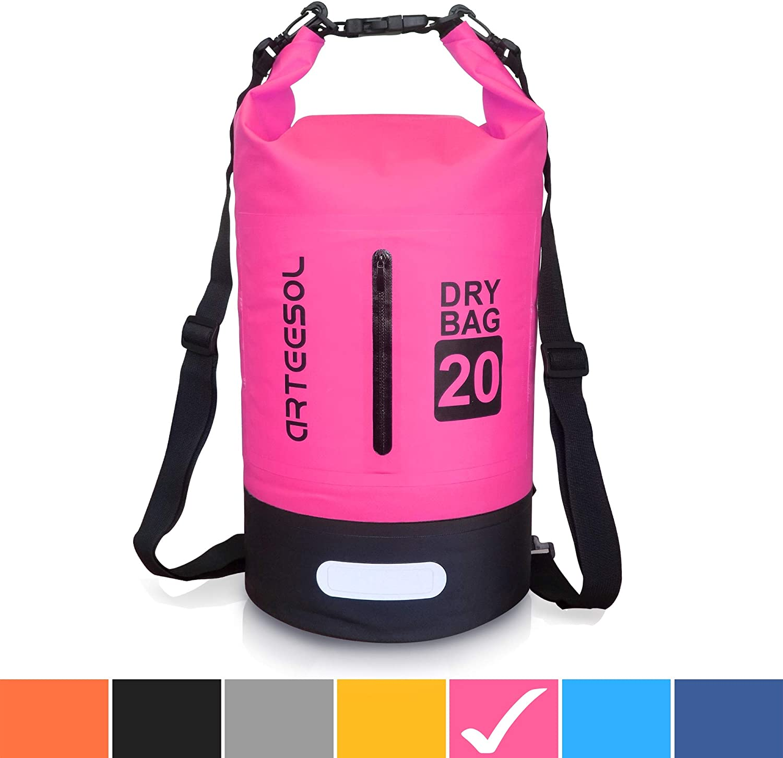 Arteesol Dry Bag 5L // 10L // 20L // 30L Mochila Impermeable con Doble Correa Bolsa para Nataci/ón Barco Viajes Ciclismo Kayak Pesca 4 Colores Playa