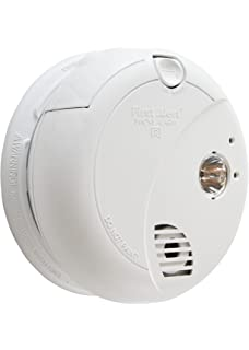 First Alert Hardwired Photoelectric Sensor Smoke Alarm with Battery Backup and Escape Light, BRK 7020B