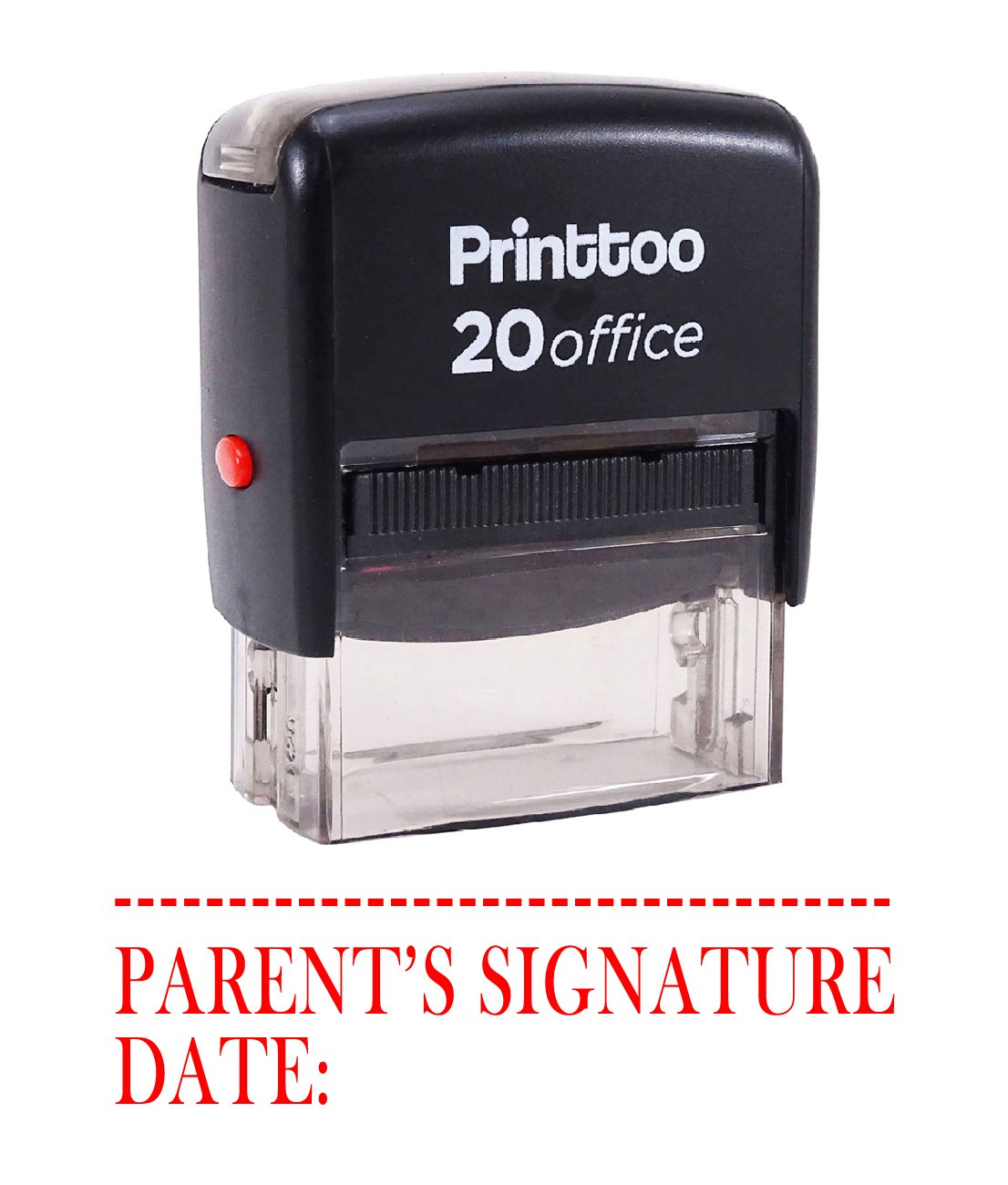 Printtoo Self Inking Rubber Stamp PARENTS SIGNATURE WITH DATE Office Stationary Custom Stamp-Blue
