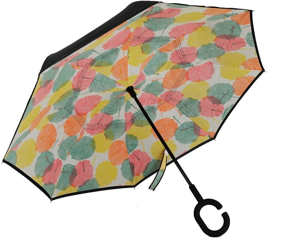 Car Reverse Folding Umbrella Inverted Umbrella with I Believe Alien Print