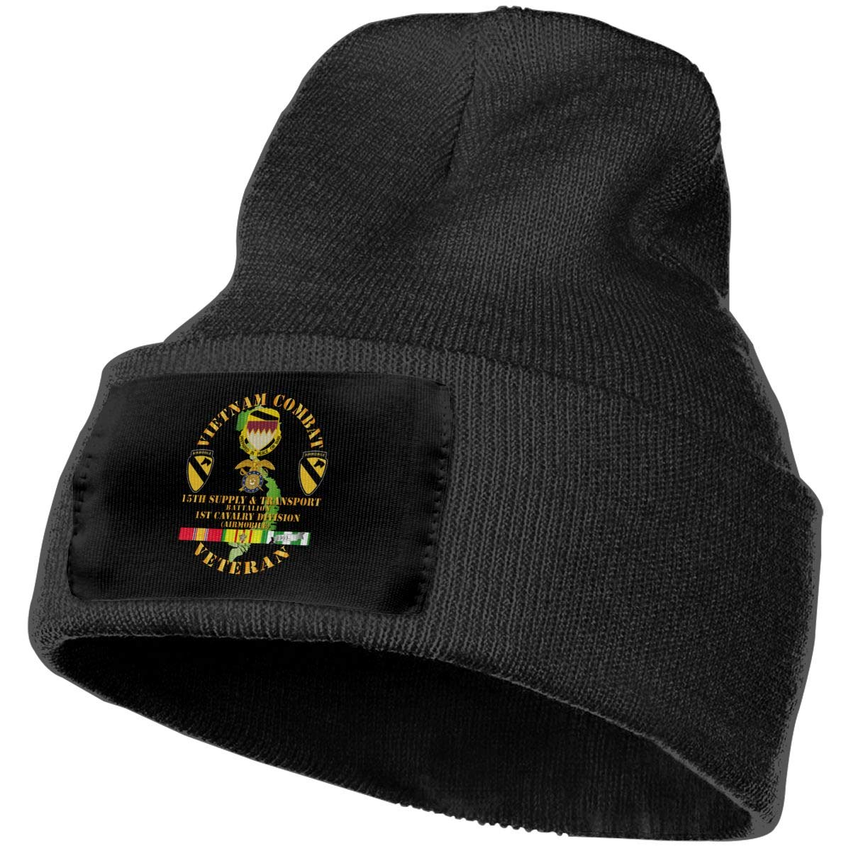 DFKD JKFD Unisex 3D Knitted Hat Skull Hat Beanie Cap Vietnam Combat Cavalry Veteran W 15th
