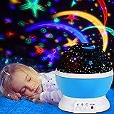 Lampada Proiettore Stelle, omitium Luce Notturna 360 Ruotabili Stellata lampada per Camera da Letto Perfetto per Stanza dei Bambini, Camera da Letto, Feste -Blu