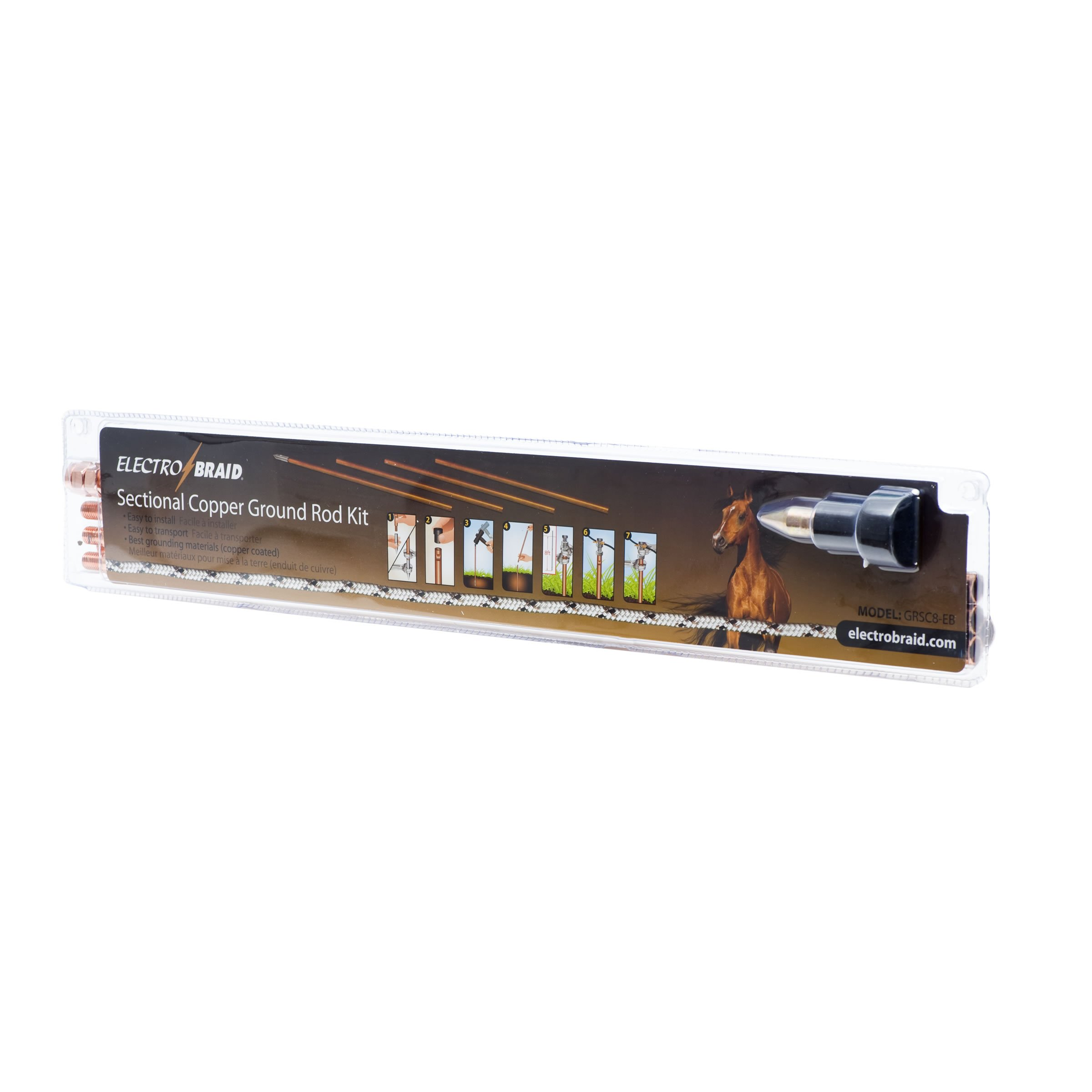 ElectroBraid GRSC8-EB Copper Sectional Ground Rod Kit