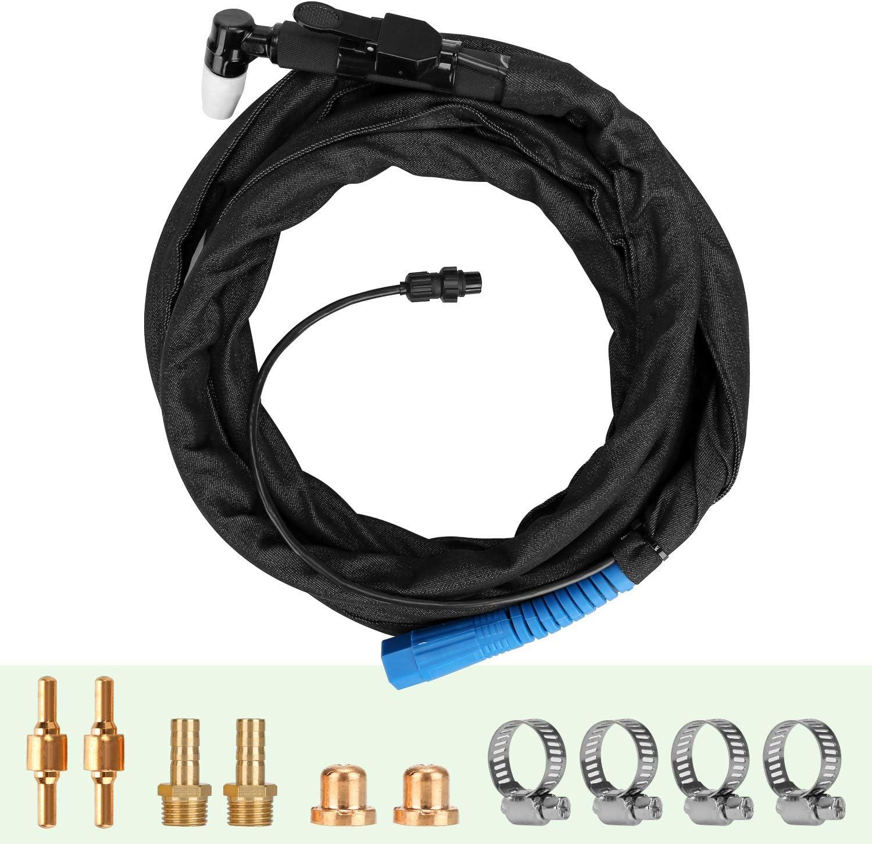 Cortador de plasma 45Amps AC220V Voltaje Cortador de metal compacto AC 1//2M/áquina de corte de inversor de corte limpio