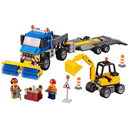 Buy LEGO City Great Vehicles Sweeper & Excavator 60152 Building Kit ...
