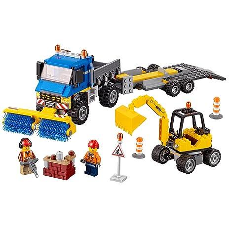 Amazoncom Lego City Great Vehicles Sweeper Excavator 60152