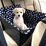 F.anlos Pet Car Booster Seat 57 * 58 * 34cm Dog Car Seat Cover with Pet Seat Belt 2 in 1 Pet Dog Car Waterproof Single Front Seat Mat Booster Seat Pet Carrier Seat Protector Travelling