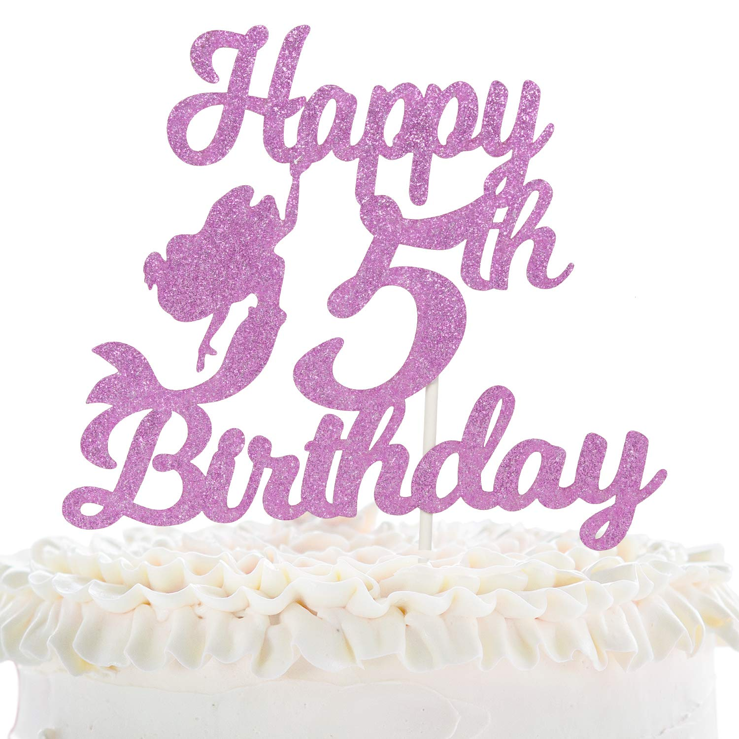 Awe Inspiring Birthday Cake Candle Five Candle Number 5 Iridescent Glitter Funny Birthday Cards Online Bapapcheapnameinfo