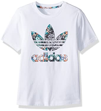 8c9a51ab786c6 adidas Originals Girls' Little Zooanimal Print Tee, White/Multi, ...