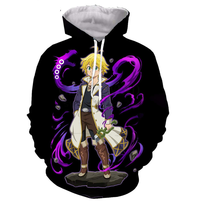 Bows shop Men//Women Anime The Seven Deadly Sins 3D Printed Hoodies Sweatshirts