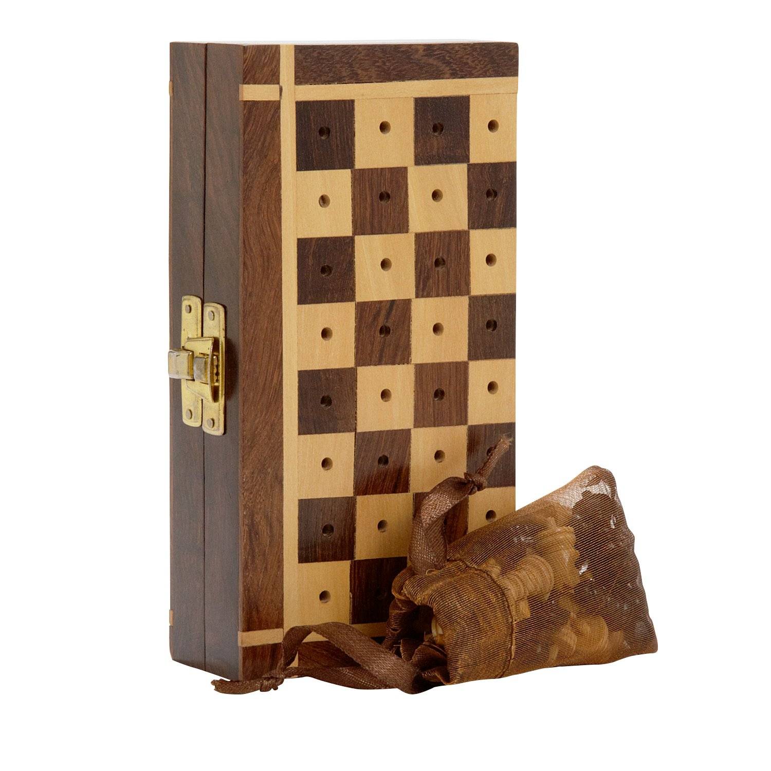 ブランド品専門の Shesham Wood Chess Pegged Shesham Chess Set 'Shesham Travel Chess Set' Travel B077B7PX1Q, 下呂市:b8764ae7 --- nicolasalvioli.com