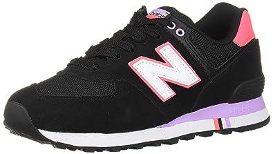 c64a60360859 New Balance WL 574 NSA Sneaker Femmes Blanc Rouge Bleu: Amazon.fr ...