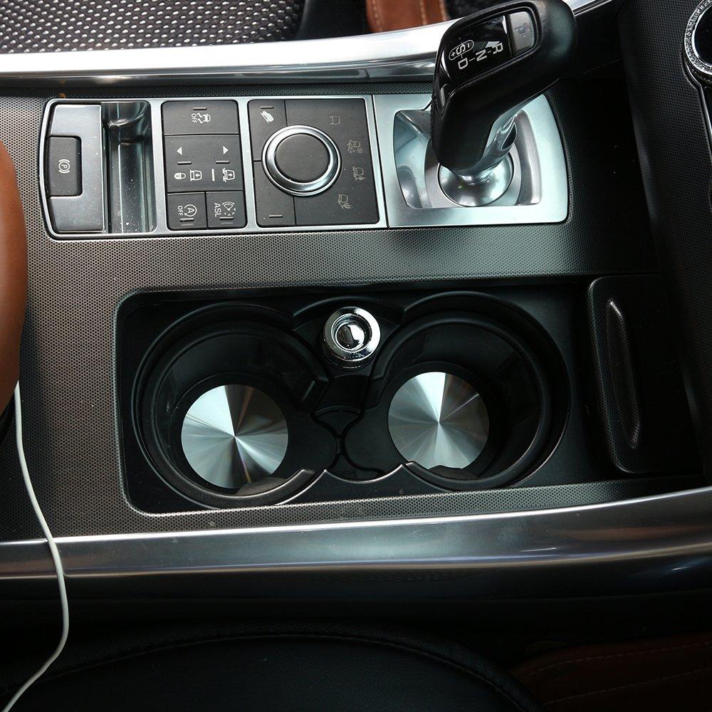 dise/ño de ribetes inoxidable 2pcs Para RangeRover deporte Vogue para Discovery Sport Discovery 4/LR5/coche soporte para tazas