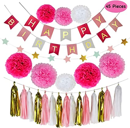 Amazon.com: Decoraciones de fiesta Parlie, 45 piezas ...