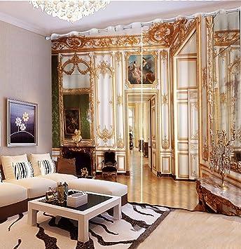 Chlwx Europäischen Luxus 3D-Gardinen Wohnzimmer Schlafzimmer Vorhang ...