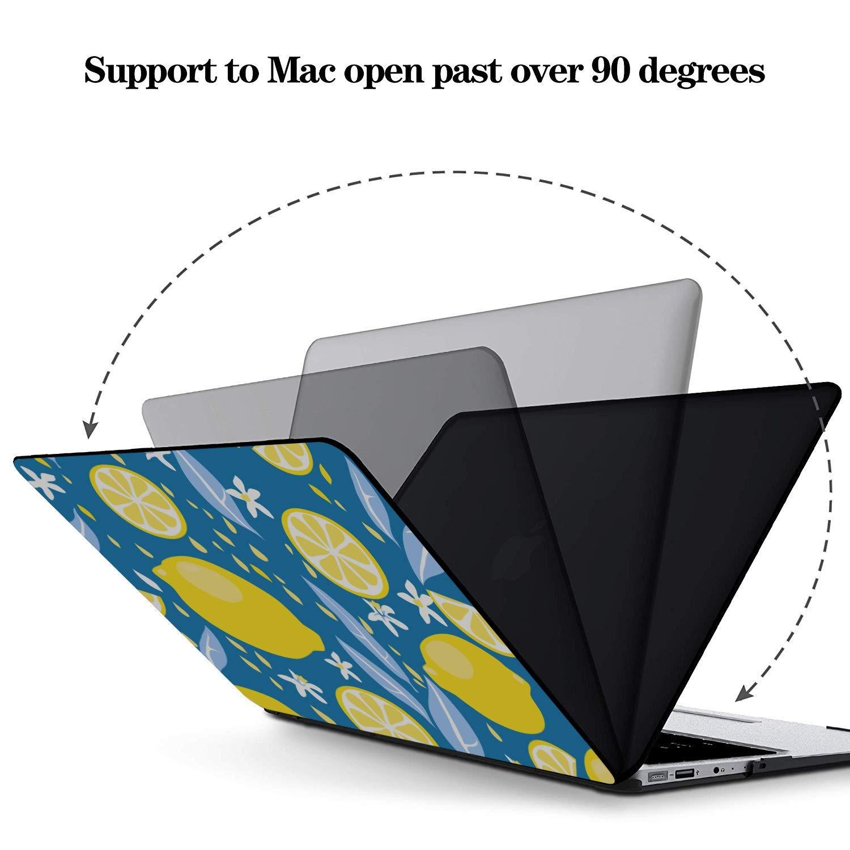 MacBook 11 Inch Case Summer Fashion Flower Fruit Lemon Plastic Hard Shell Compatible Mac Air 11 Pro 13 15 Laptop Case MacBook Pro Protection for MacBook 2016-2019 Version