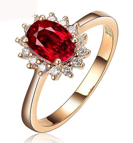 Amazon.com: AMDXD - Anillos de boda de oro de 18 quilates ...