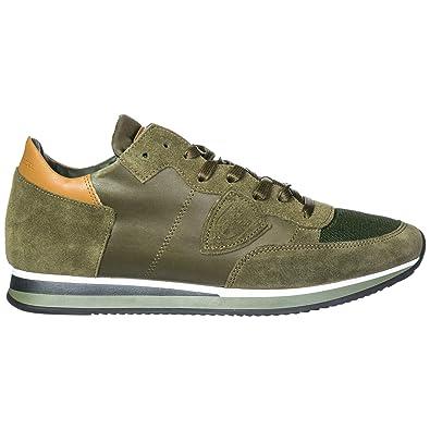 50d1154eb97 Philippe Model Chaussures Baskets Sneakers Homme en Daim Tropez Vert EU 41  A18ITRLUWZ64