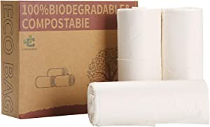 Compostable Trash Bags, 5 Gallon, 20L, Extra Thick,Biodegradable Garbage Bags