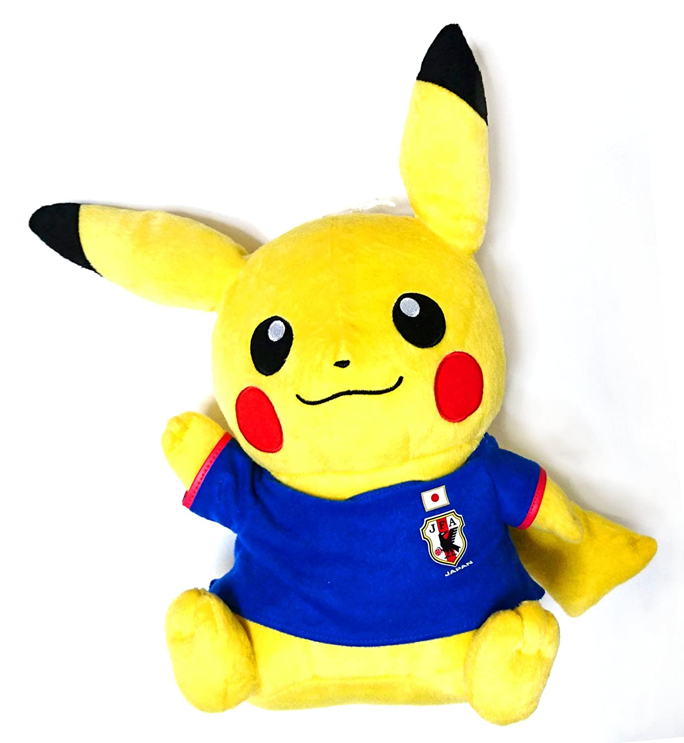 Pikachu Super DX Plush Toy Japan national football team with Pokemon right up ver. Single item about 33cm