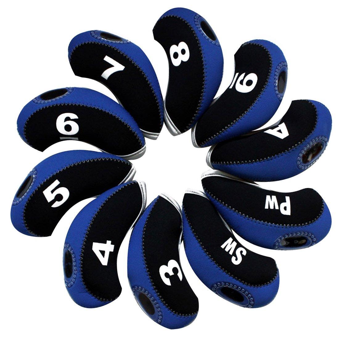 Andux funda de palo de golf hierro 10pcs/set negro/azul MT ...