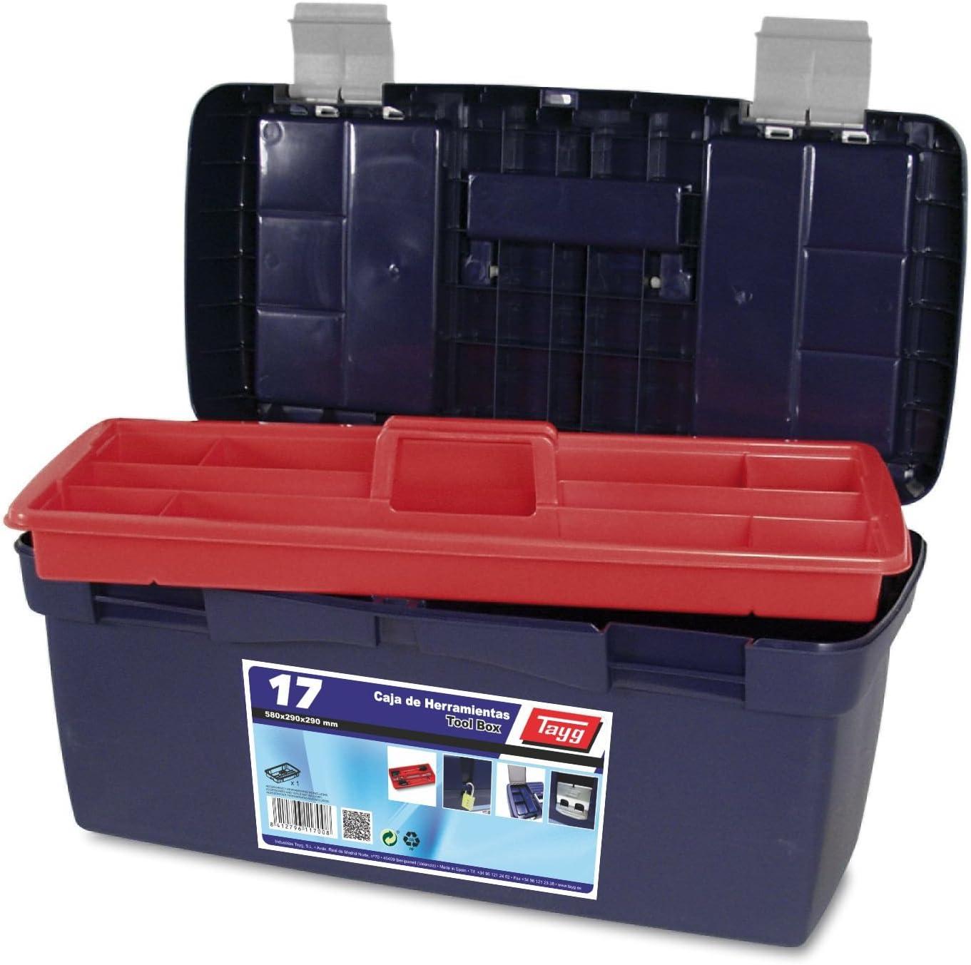 Tayg 17 Caja herramientas plástico n.17, 580 x 290 x 290 mm: Amazon.es: Bricolaje y herramientas