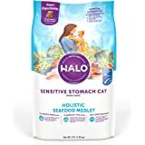Halo Natural Dry Cat Food - Sensitive Stomach Recipe - Premium and Holistic Seafood Medley - 3 Pound Bag - Sustainably…