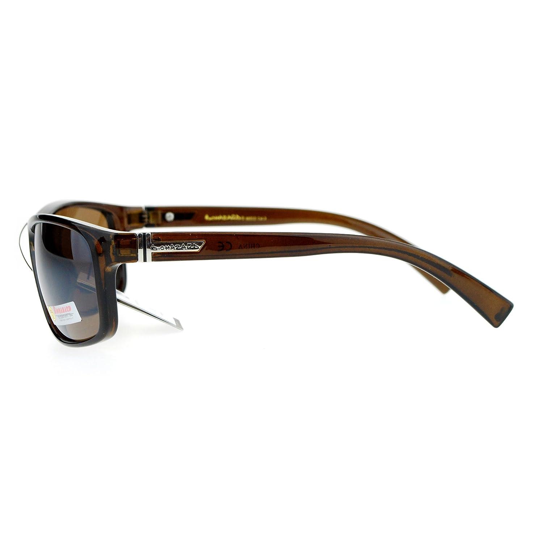 Biohazard Mens Rectangular Thin Plastic Biker Warp Gangster Sunglasses