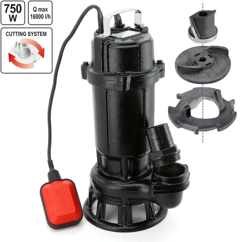 Flo 79883 –  schmutzigen Wasserdicht Wasserpumpe 750 W/Flo/mit Schneidesystem Yato