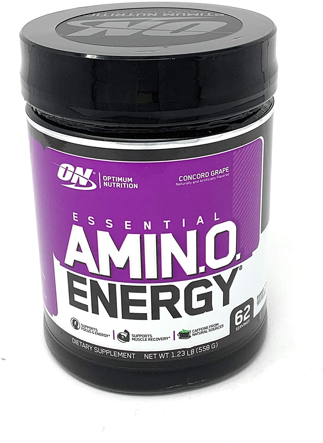 Optimum Nutrition Essential Amino Energy Concord Grape Preworkout and Postworkout Recovery